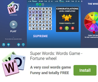 Super Words Game